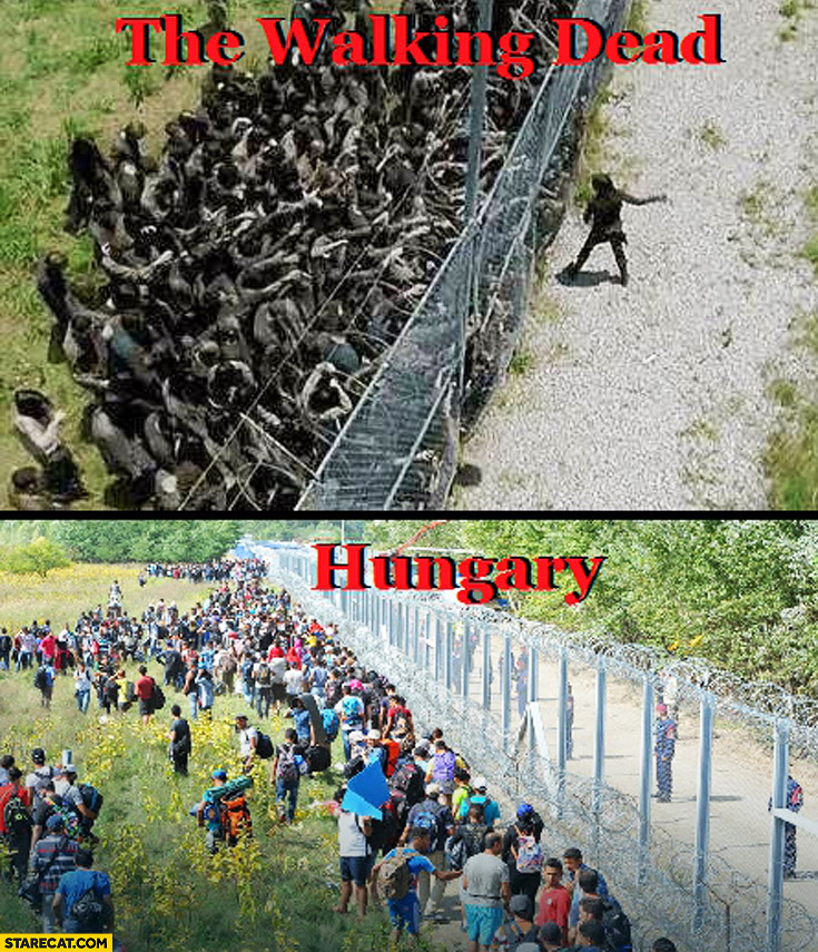 The Walking Dead Hungary comparison fence zombies