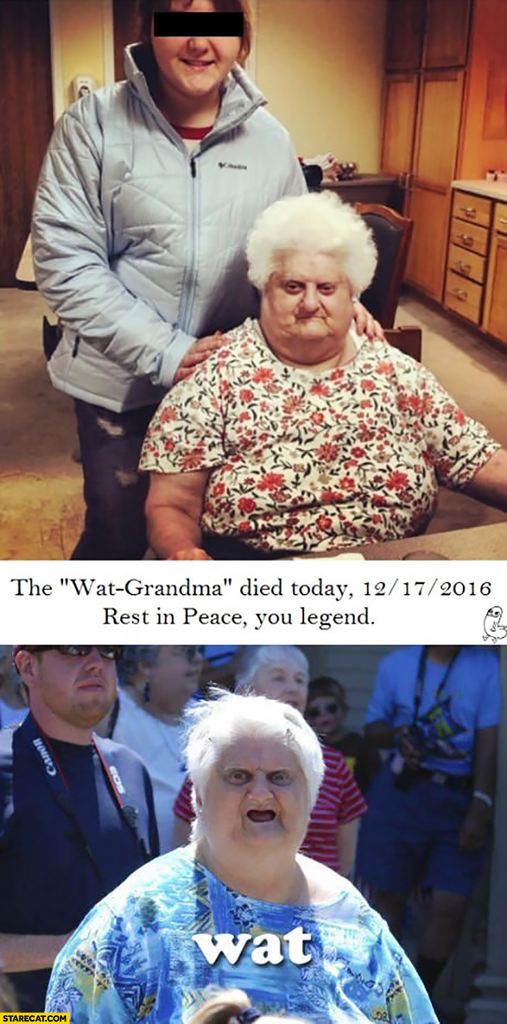 The WAT grandma died today rest in peace you legend wat meme