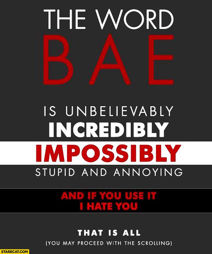 The word BAE