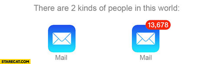 There are 2 kinds of people mail app zero mail vs tons of mail