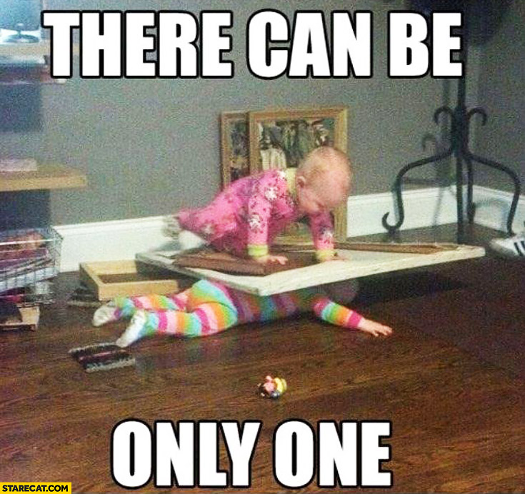 There can be only one fighting babies