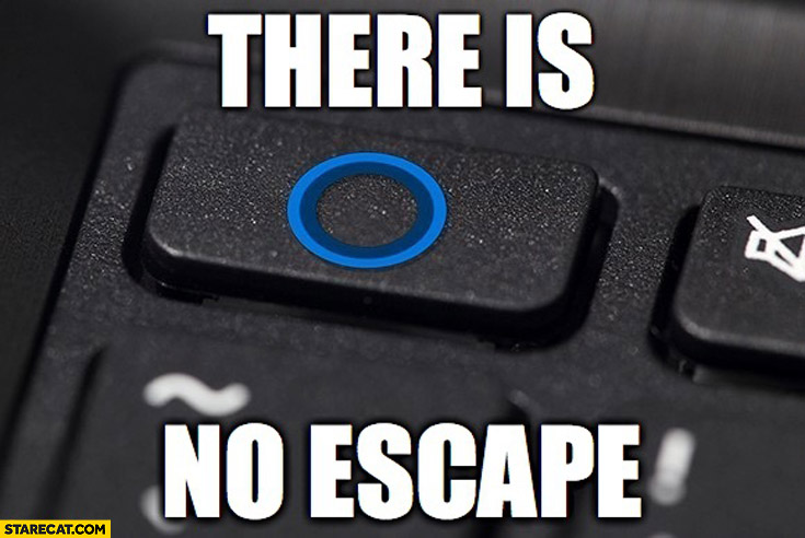 There is no escape button keyboard