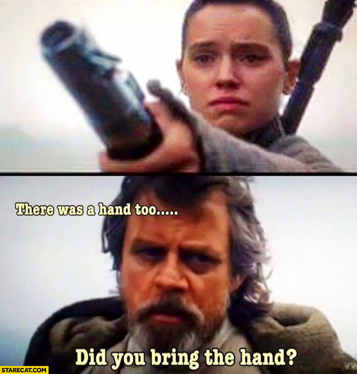 There was a hand too, did you bring the hand? Luke Skywalker Star Wars