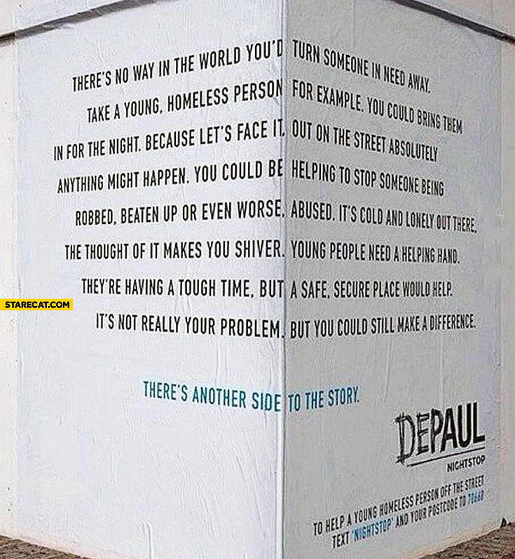 There's another side to the story creative ad corner
