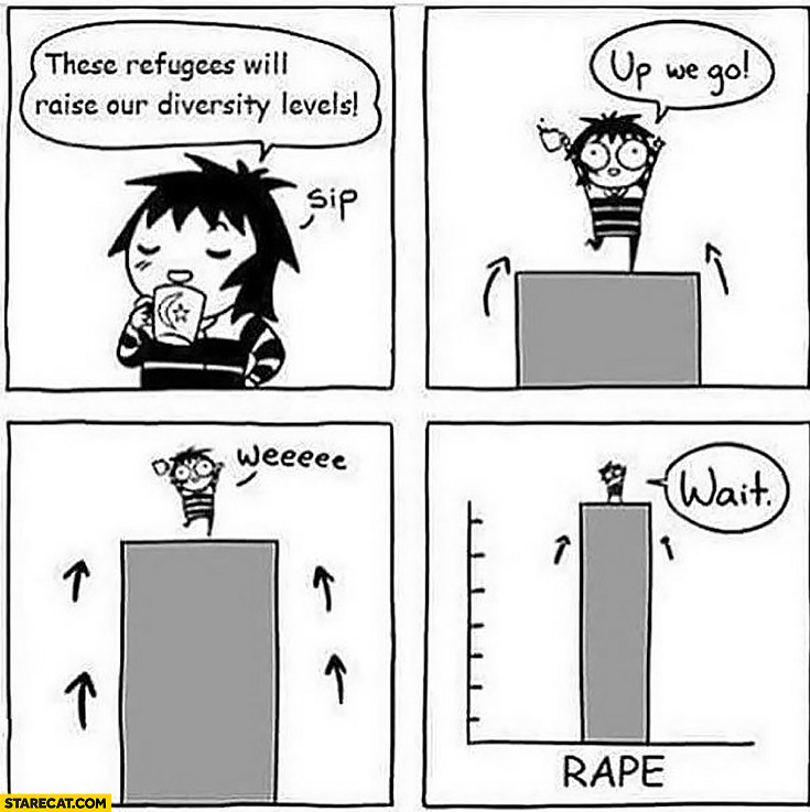 These refugees will raise our diversity levels, up we go, wait rape statistics