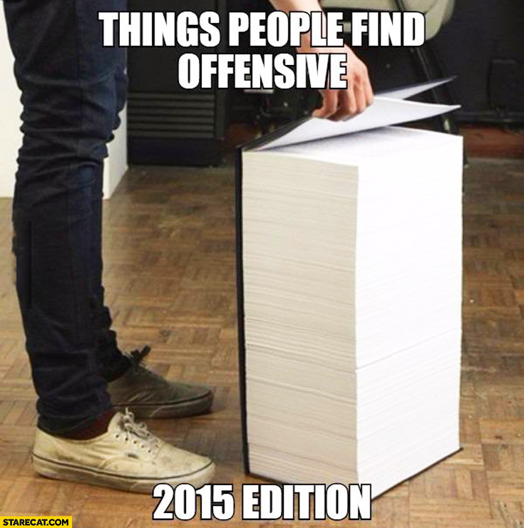 Things people find offensive book 2015 edition