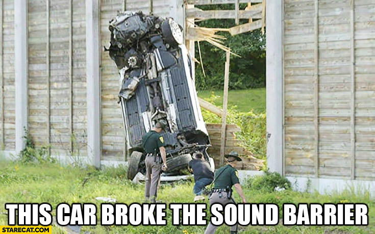 This car broke the sound barrier quite literally