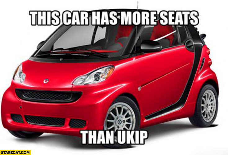 This car has more seats than UKIP Smart