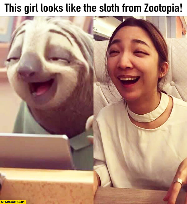 This girl looks like the Sloth from Zootopia