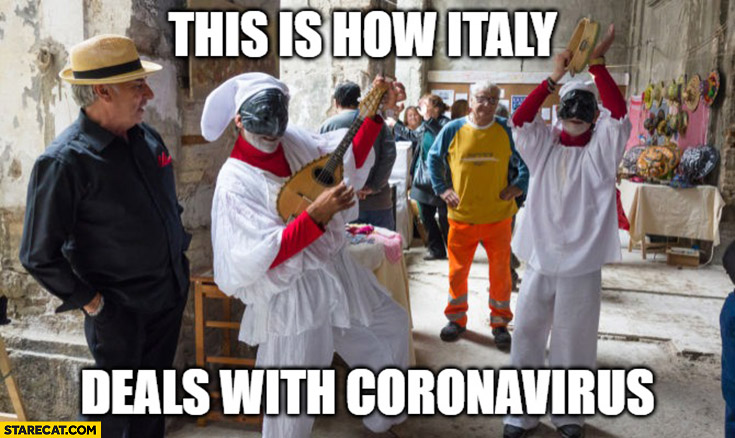 This is how Italy deals with coronavirus party