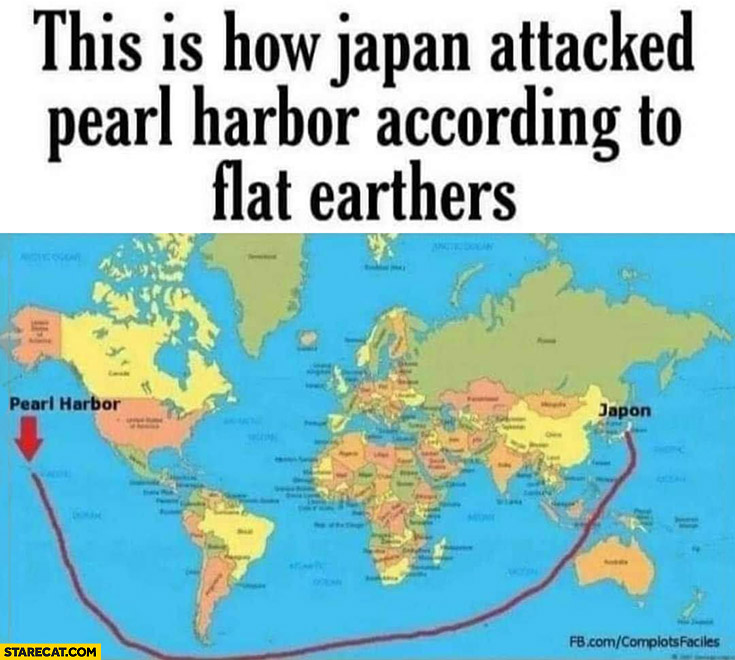 This is how Japan attacked Pearl Harbor according to flat earthers