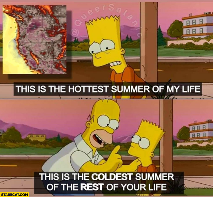 This is the hottest summer of my life, this is the coolest summer of the rest of your life the simpsons