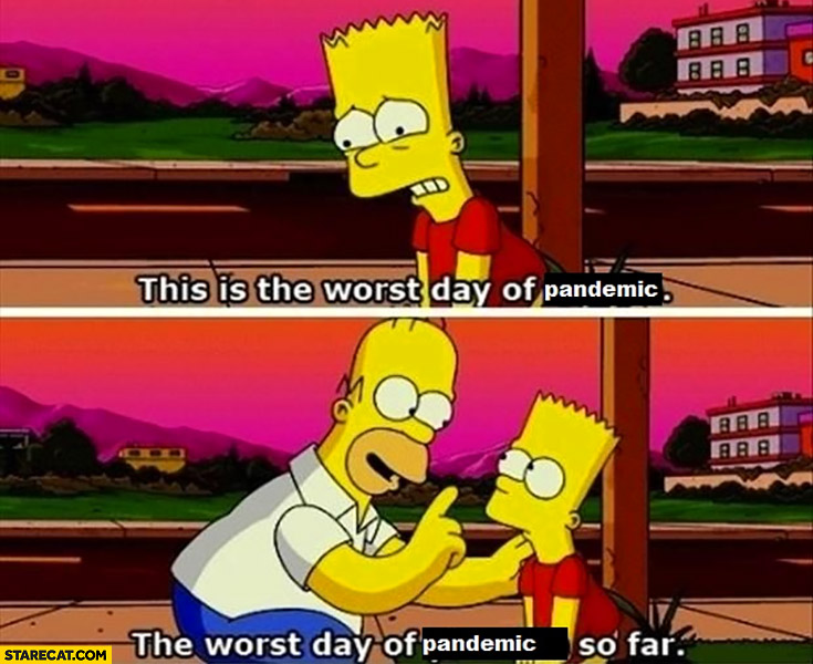 This is the worst day of pandemic, the worst day of pandemic so far The Simpsons
