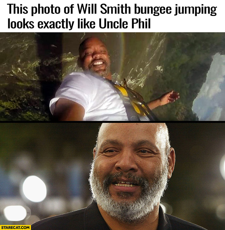 This photo of Will Smith bungee jumping look exactly like Uncle Phil