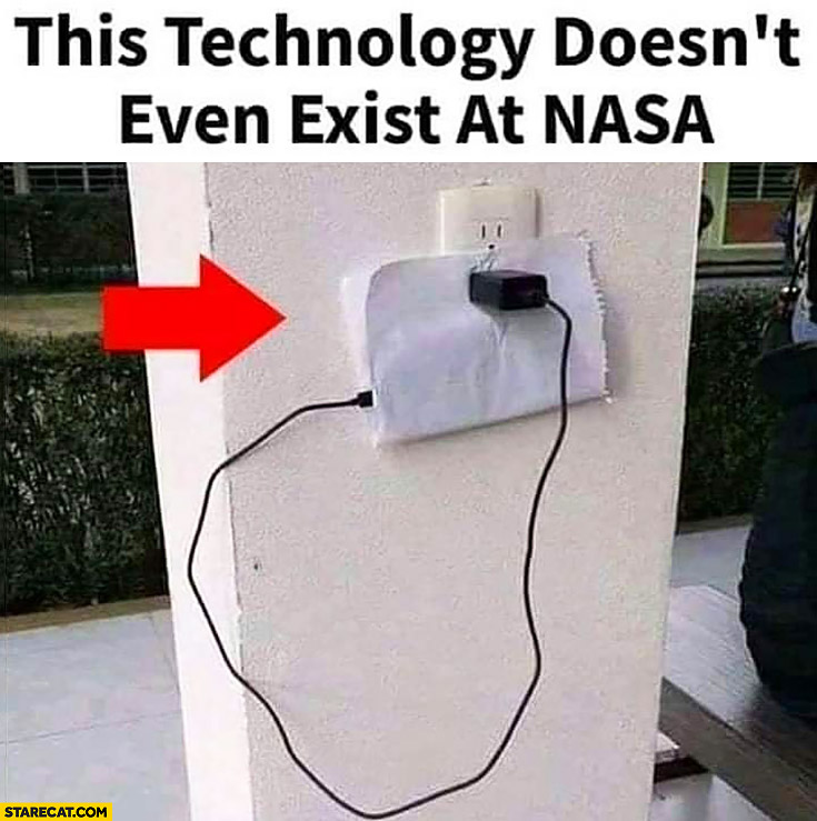 This technology doesn't even exist at NASA phone charged wrapped in paper