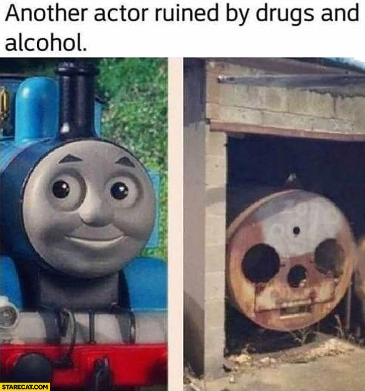 Thomas train another actor ruined by drugs and alcohol