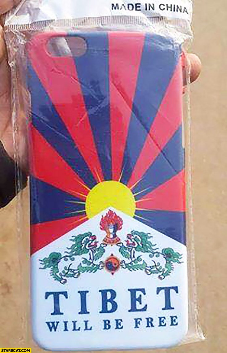 Tibet will be free iPhone case made in China