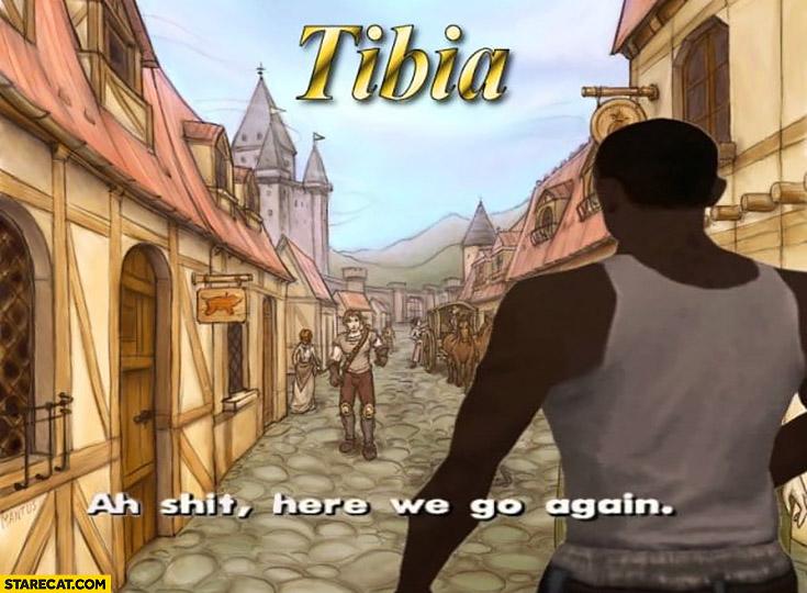 Tibia login screen ah shit here we go again GTA Grand Theft Auto