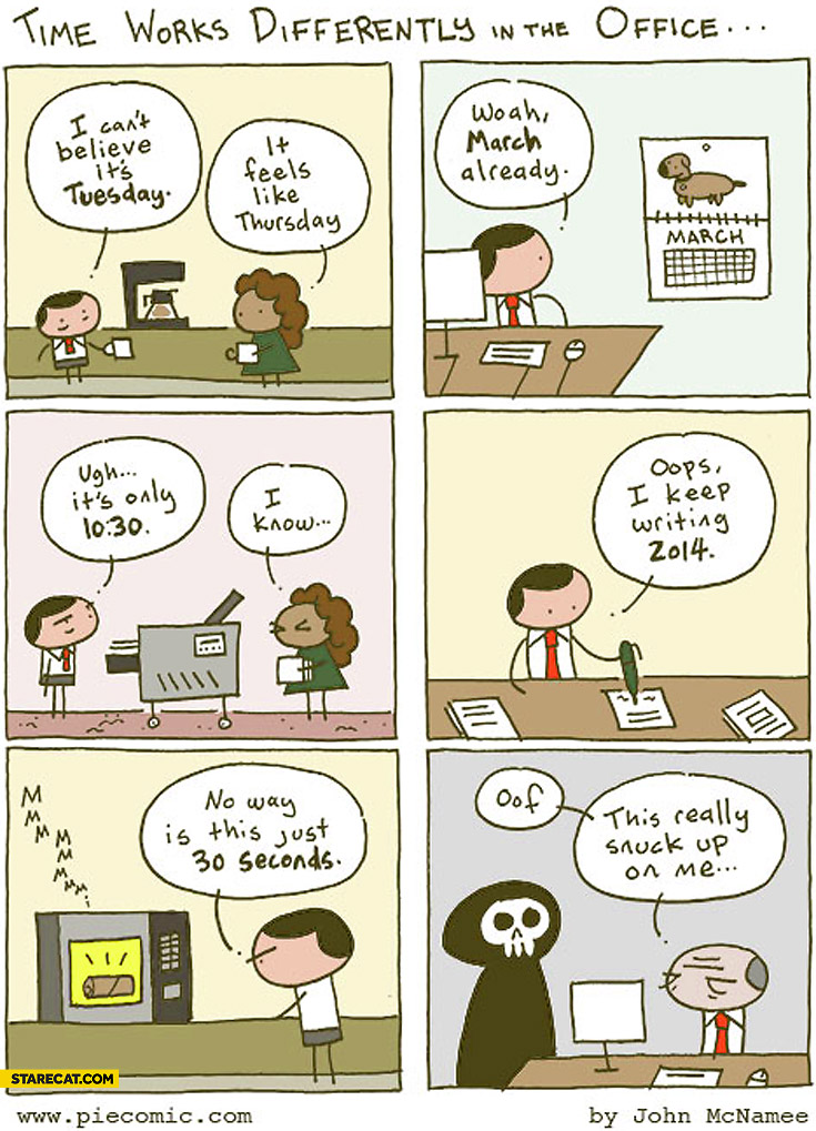 Time works differently in the office