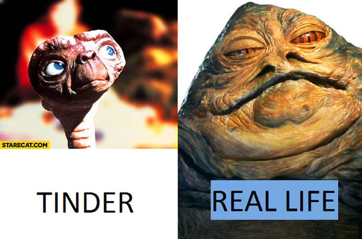 Tinder ET in real world Jabba