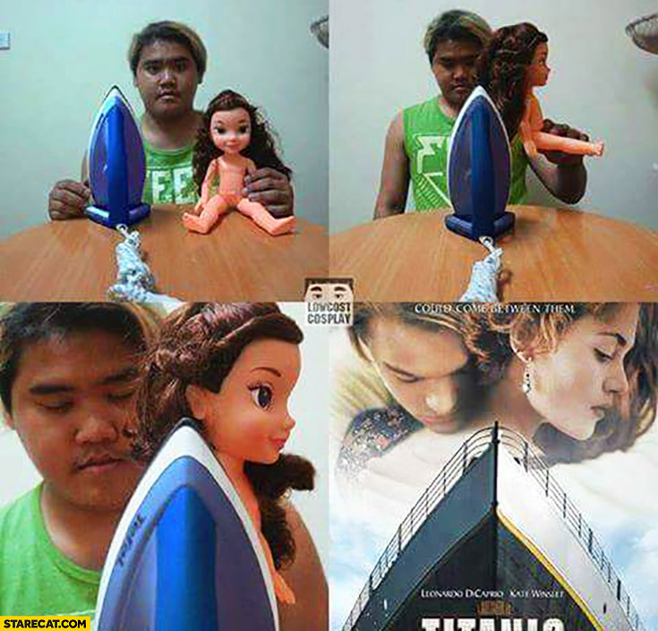 Titanic low cost cosplay: iron, doll
