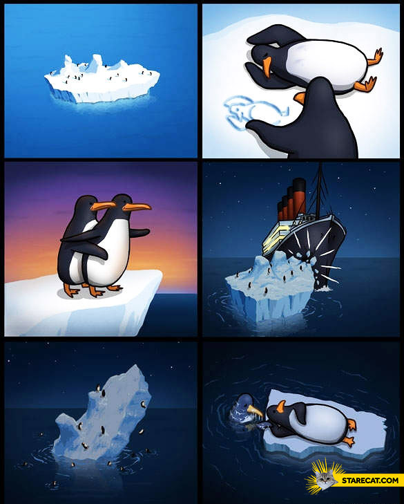 Titanic penguin version