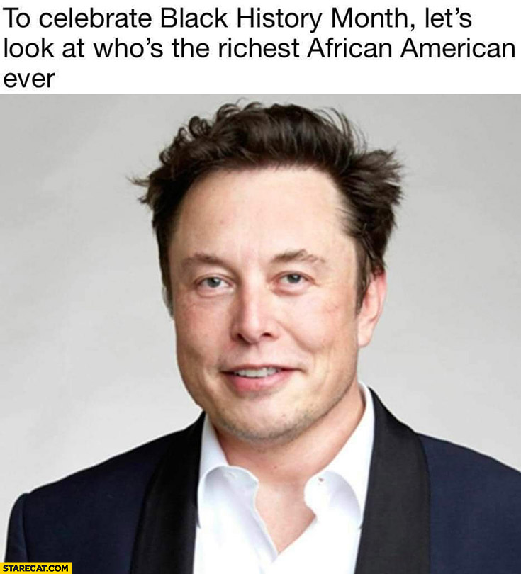 To celebrate black history month let's look at who's the richest African American ever Elon Musk