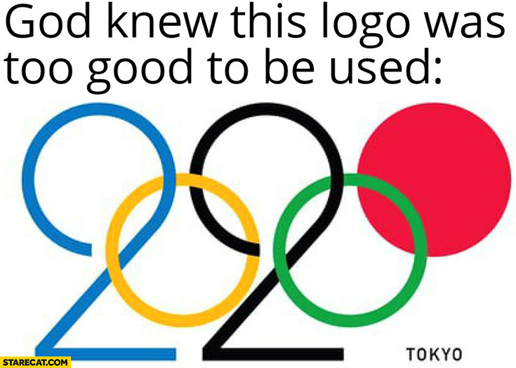 Tokyo 2020 olympics God knew this logo was too good to be used