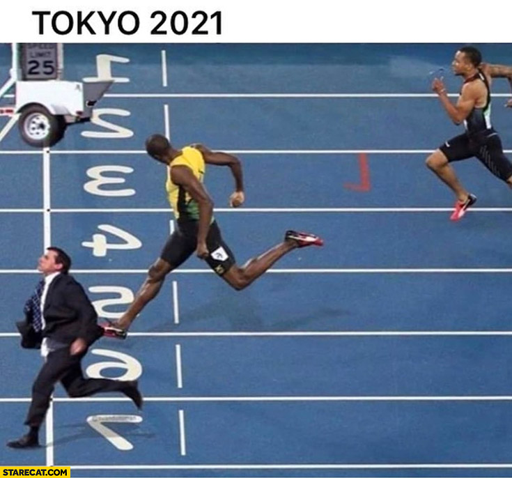 Tokyo 2021 running the office Michael Scott finishes first