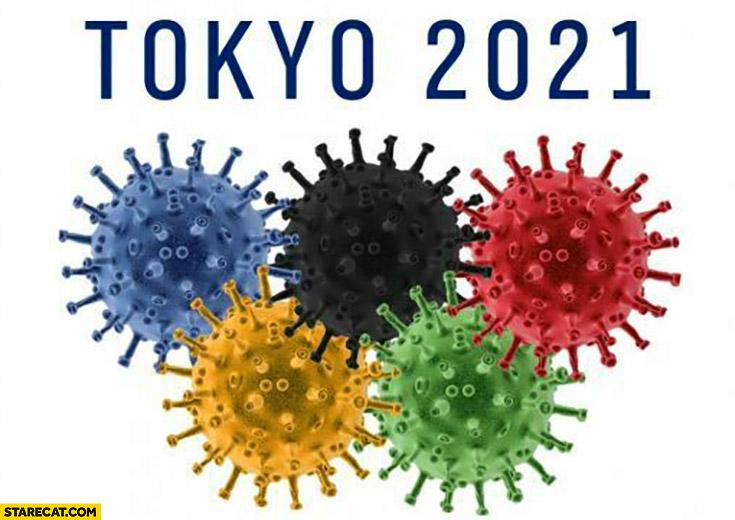 Tokyo Olympics 2021 covid coronavirus logo
