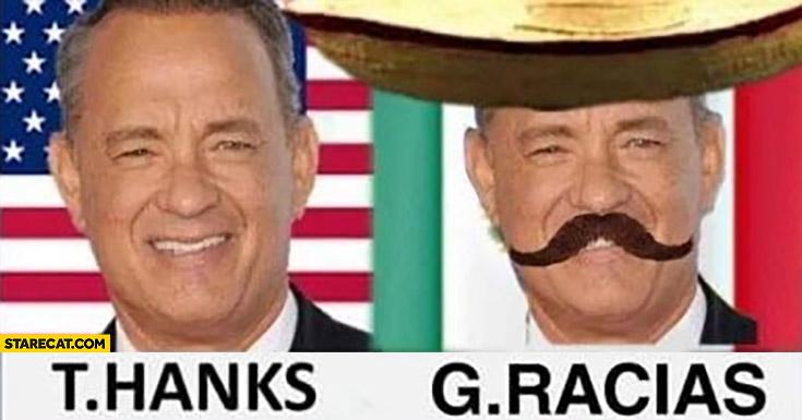 Tom Hanks Tom gracias Mexico Mexican