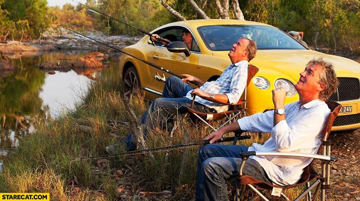 Top Gear fishing Bentley