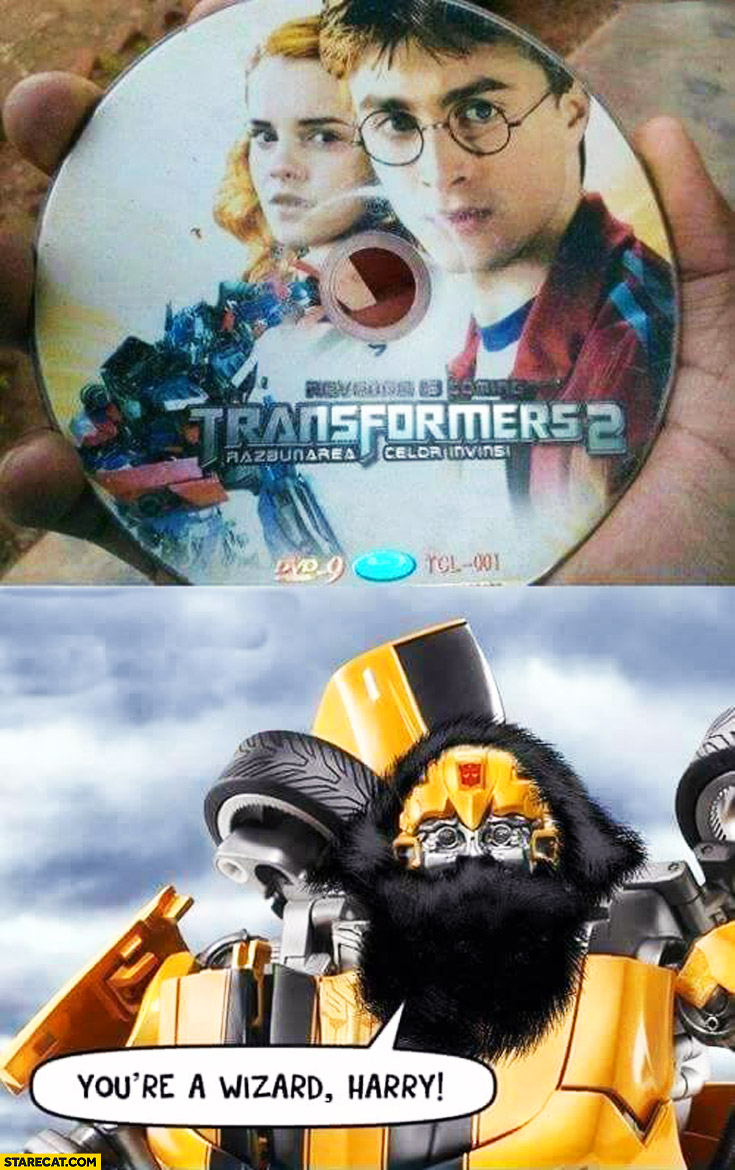 Transformers Harry Potter CD you're a wizard Harry