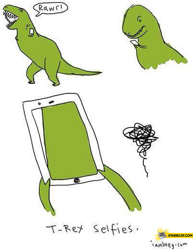 T-Rex selfies