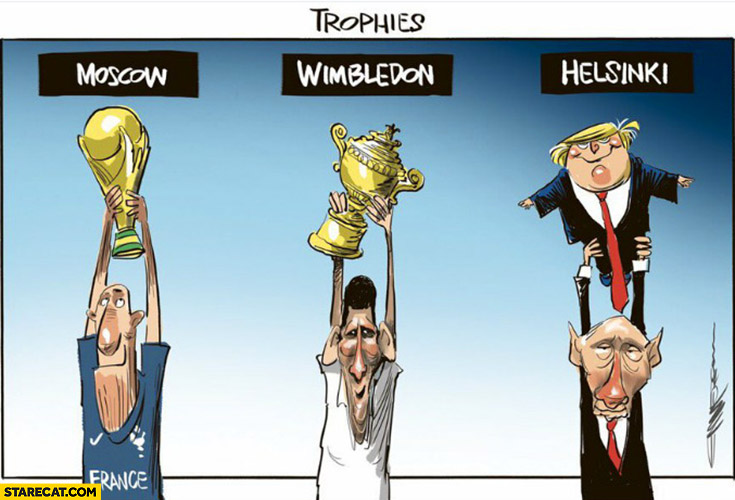 Trophies Moscow, Wimbledon, Helsinki Trump Putin