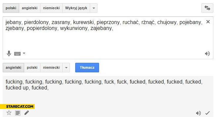 True beuty of Polish language swear curse words