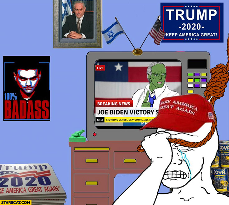 Trump supporter sad after Joe Biden won elections