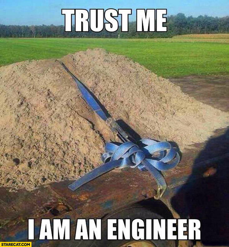 Trust me I am an engineer securing sand transport