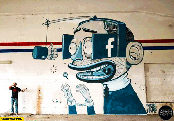Truth about Facebook graffiti mural street art