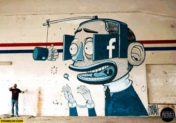Truth about Facebook graffiti mural street art