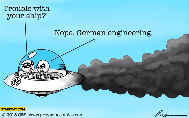 UFO: Trouble with your ship? Nope, German engineering Volkswagen