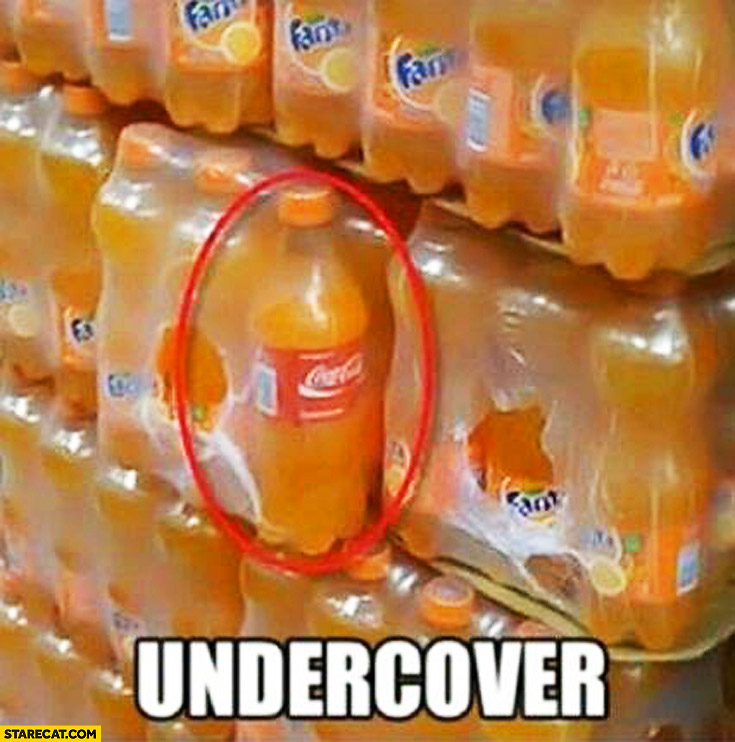 Undercover Coke Fanta