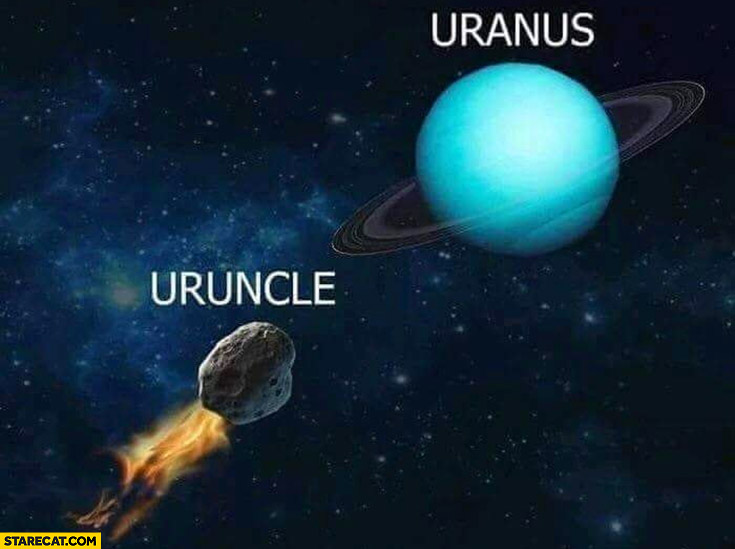 Uranus uruncle meteor flying into it