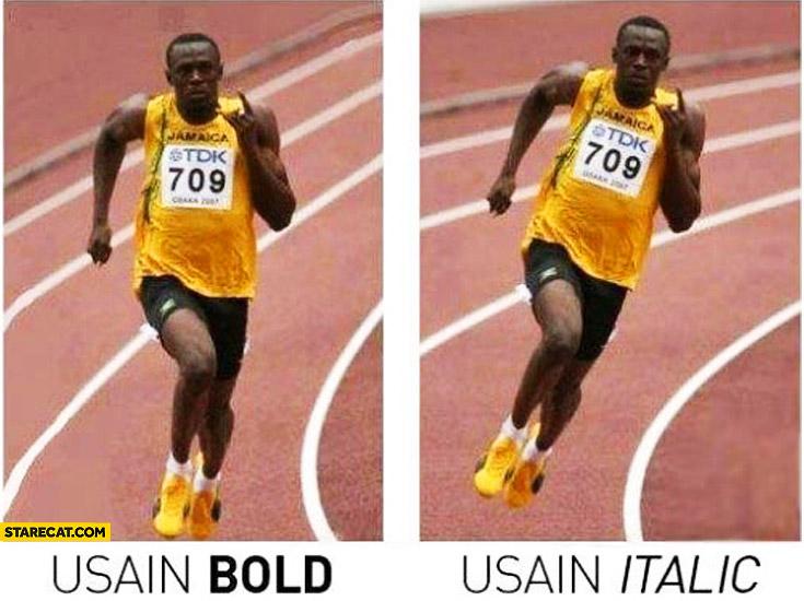 Usain Bolt Usain Italic