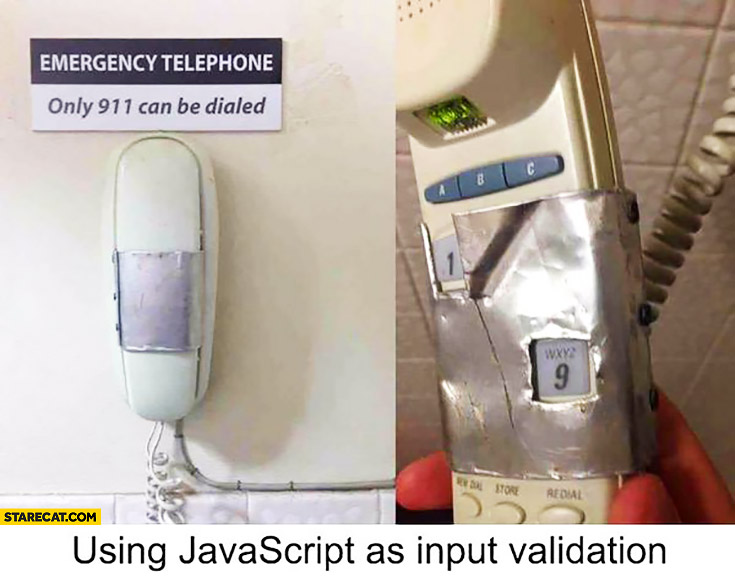 Using JavaScript as input validation: phone with covered numbers fail