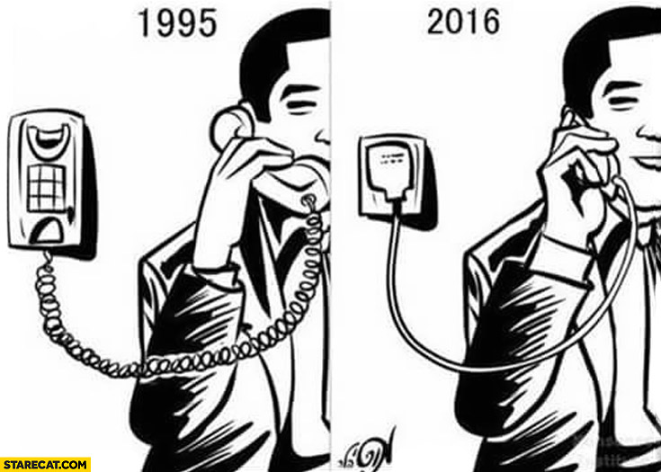 Using phone in 1995 wire compared to 2016 charger