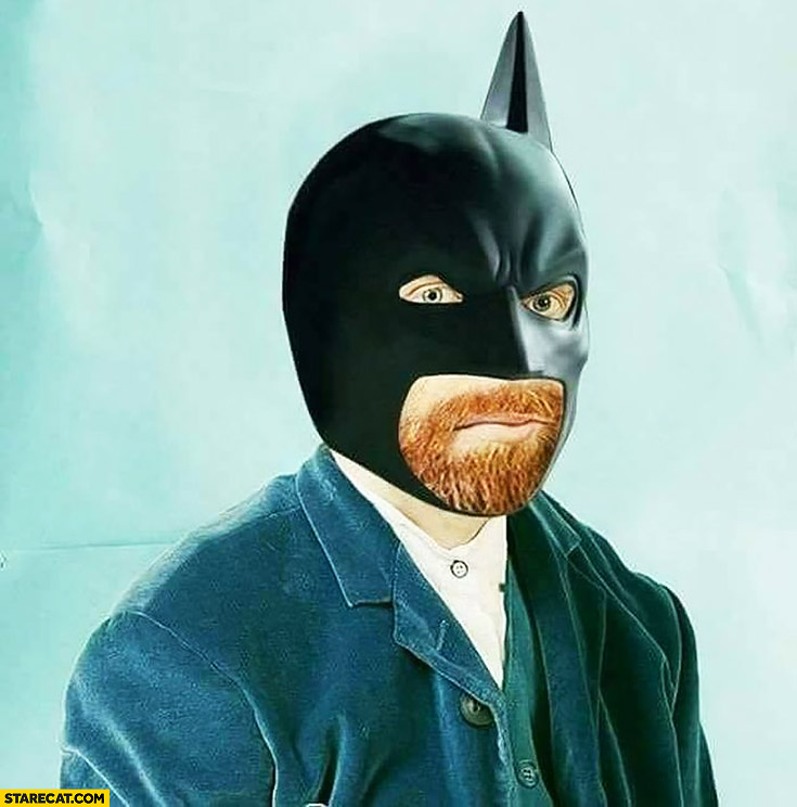 Van Gogh dressed as batman no ear missing one ear