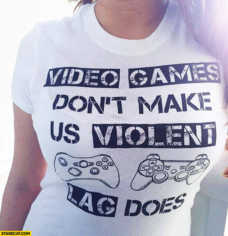 Video games don't make us violent lag does