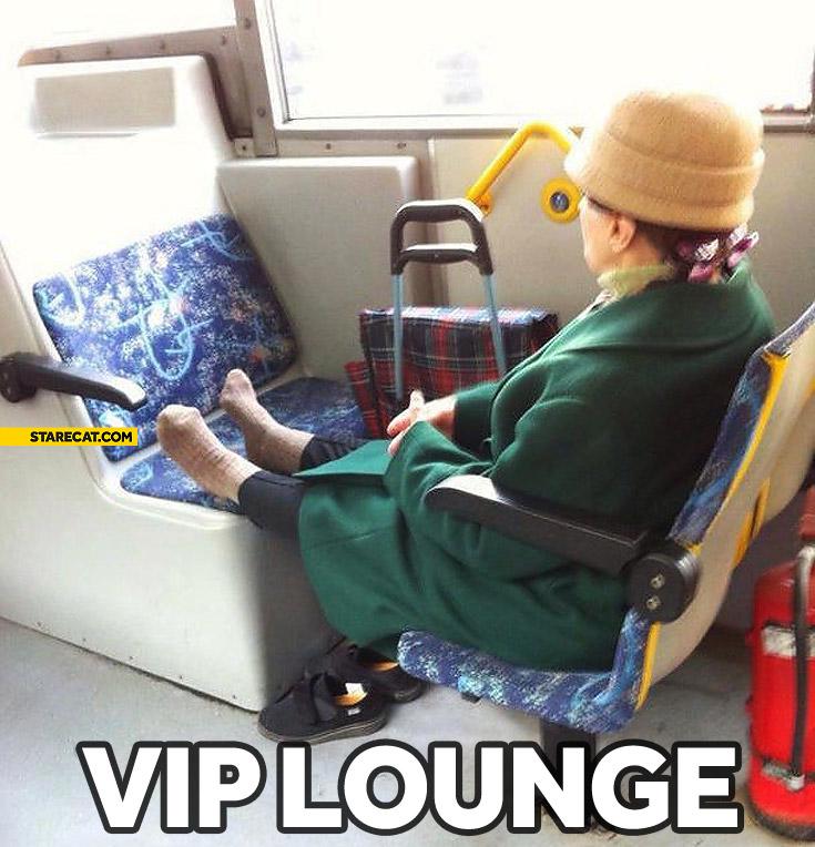 VIP lounge grandma bus