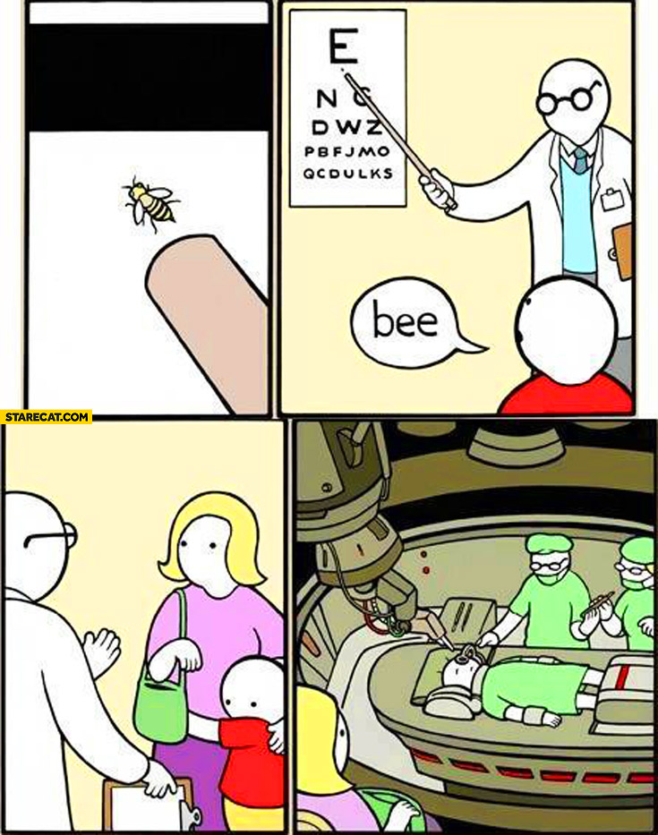 Vision test bee